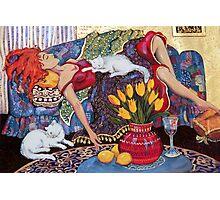 Woman Resting Photographic Print