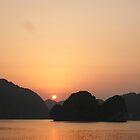 Sunset in Halong Bay by maiaji