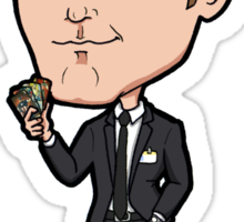 The Avengers - Agent Phil Coulson with Captain America Trading Cards Chibi Sticker Sticker