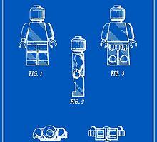 Lego Man Patent - Blueprint (v2) by FinlayMcNevin