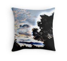 Apocalyptic Trees Throw Pillow