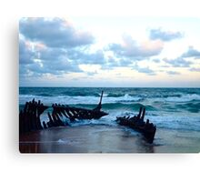 Wrecked ship Canvas Print