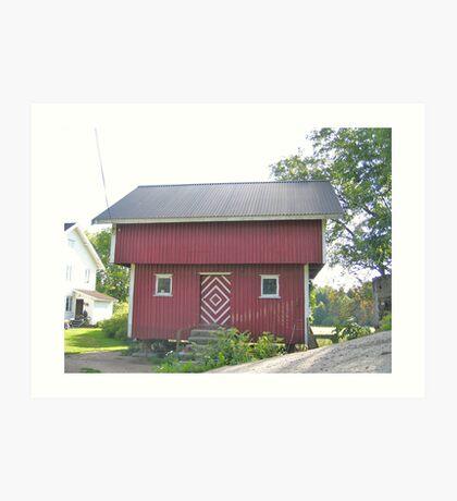 Norwegian Storehouse Art Print
