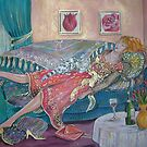 Woman Recovering from the Day by Deborah Conroy