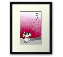 Alice and the Wind Framed Print