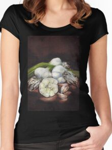 Shelley's Garlic Women's Fitted Scoop T-Shirt