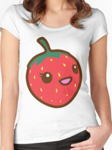 Kawaii Strawberry Women's Fitted Scoop T-Shirt