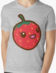 Kawaii Strawberry Mens V-Neck T-Shirt