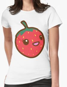 Kawaii Strawberry Womens Fitted T-Shirt