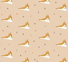 Geometric Fox Pattern by tofusan