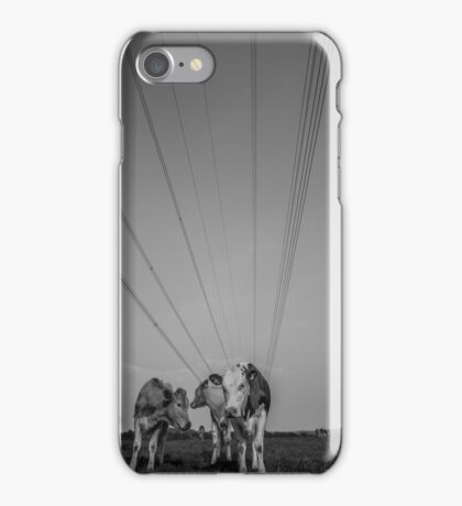Cows and Wires iPhone Case/Skin