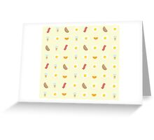 Morning Breakfast Pattern Greeting Card
