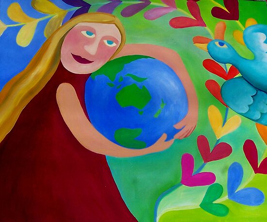 CHERISH  and  RESPECT OUR  ''MOTHER''......EARTH by ART PRINTS ONLINE         by artist SARA  CATENA