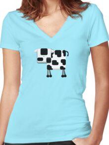 Little Moo TShirt Women's Fitted V-Neck T-Shirt