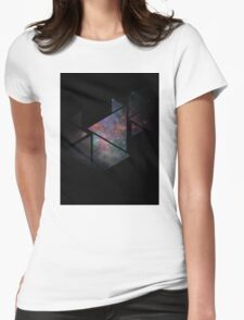 Galaxy Triangles Womens Fitted T-Shirt