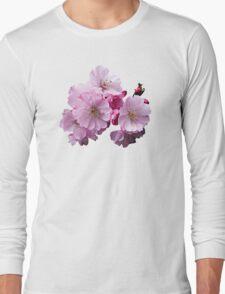 Closeup of Cherry Blossoms Long Sleeve T-Shirt