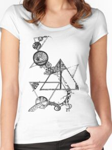 Time and space (black design) Women's Fitted Scoop T-Shirt