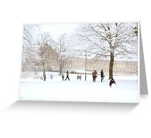 Royal Crescent Fun in the Snow. Greeting Card