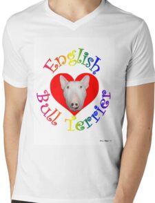 English Bull Terrier! Mens V-Neck T-Shirt