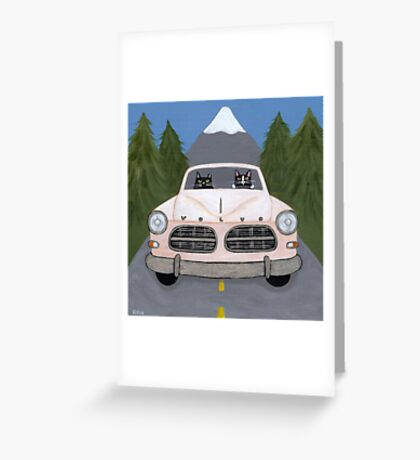 Volvo Amazon Greeting Card