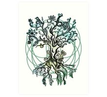 Coloured psychedelic tree Art Print