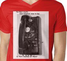 land line Mens V-Neck T-Shirt