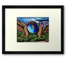 THE EARTH IS CRYING OUT..CAN YOU FEEL IT? DO U SEE IT? CAN MAN REPAIR WHAT MAN HAS DESTROYED?  Framed Print