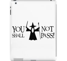Gandalf Black You Shall Not Pass LOTR Lord Of The Rings iPad Case/Skin