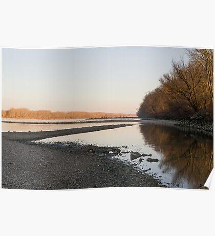 Danube Landscape at Sunset Poster