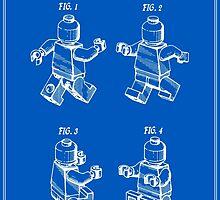 Lego Man Patent - Blueprint (v3) by FinlayMcNevin