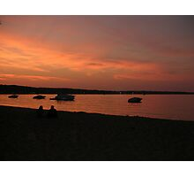 Sunset Of Lake Michigan Photographic Print