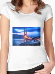 Golden Gate Bridge Women's Fitted Scoop T-Shirt