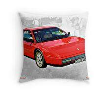 1986 Ferrari Mondial Car Throw Pillow