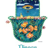 Hamsa for Pisces by Nonna Mynatt
