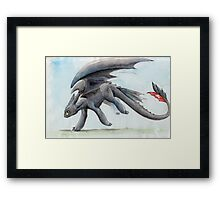 HTTYD Toothless Watercolour Framed Print