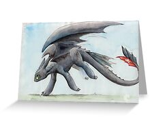 HTTYD Toothless Watercolour Greeting Card