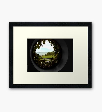 through the round window Framed Print