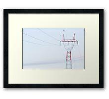 Electricity Pylon Framed Print