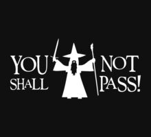 Gandalf White You Shall Not Pass LOTR Lord Of The Rings One Piece - Short Sleeve