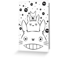 Totoro and Friends Simple Greeting Card