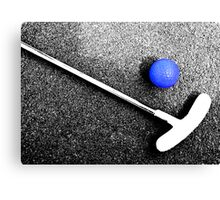 blue golf ball Canvas Print