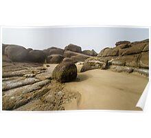 Rocky Sandscape on the Oregon Coast Poster
