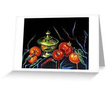 Black Still Life Greeting Card
