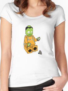 Space Legos Women's Fitted Scoop T-Shirt