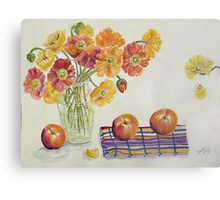 Poppies and Apples Canvas Print