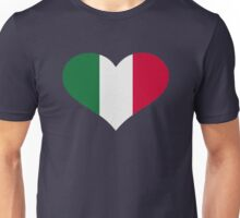 Italy flag heart Unisex T-Shirt