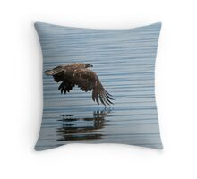 Eagle Skimming the Water Throw Pillow