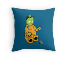 Space Legos Throw Pillow