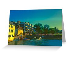 Summer Evening at the Mill, Cambridge Greeting Card