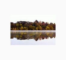 Fall and Fog on Springfield Lake Unisex T-Shirt